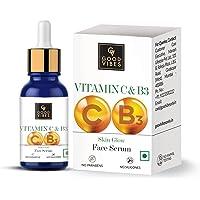 Good Vibes Vitamin C & Vitamin B3 Skin Glow Serum, 10 ml With Anti Aging Properties Helps Reduce Fine Lines and Wrinkles…