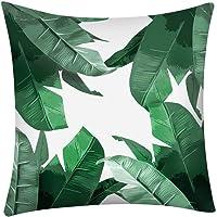 "Xshuai ® 18""x18"" Cactus Banana Leaf Print Pillow Case Polyester Sofa Car Cushion Cover Home Decor (A)"