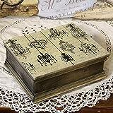 handmade4u Vintage Holzschatulle Federkästchen Federmäppchen Federmappe Griffelkasten Holzkasten