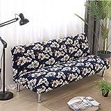 JHion Schlafsofa Set von einfachen Falten Handlauf elastischen Sofa Cover Stoff EE 160-190cm