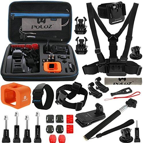 28in1 Zubehör-Kit für Gopro Hero 7   6   5   4   3   2 HD   1   Xiaoyi - Befestigungszubehör Einbeinstativ Stativ Schlüssel usw.