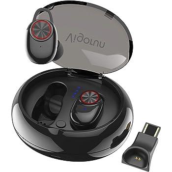 Auricolari Bluetooth Senza Fili, Vigorun Cuffie Wireless in Ear con Scatola Ricarica Portatile Auricolare Stereo Sport Palestra Cancellazione Rumore IPX5 per Samsung Huawei Sony iPad