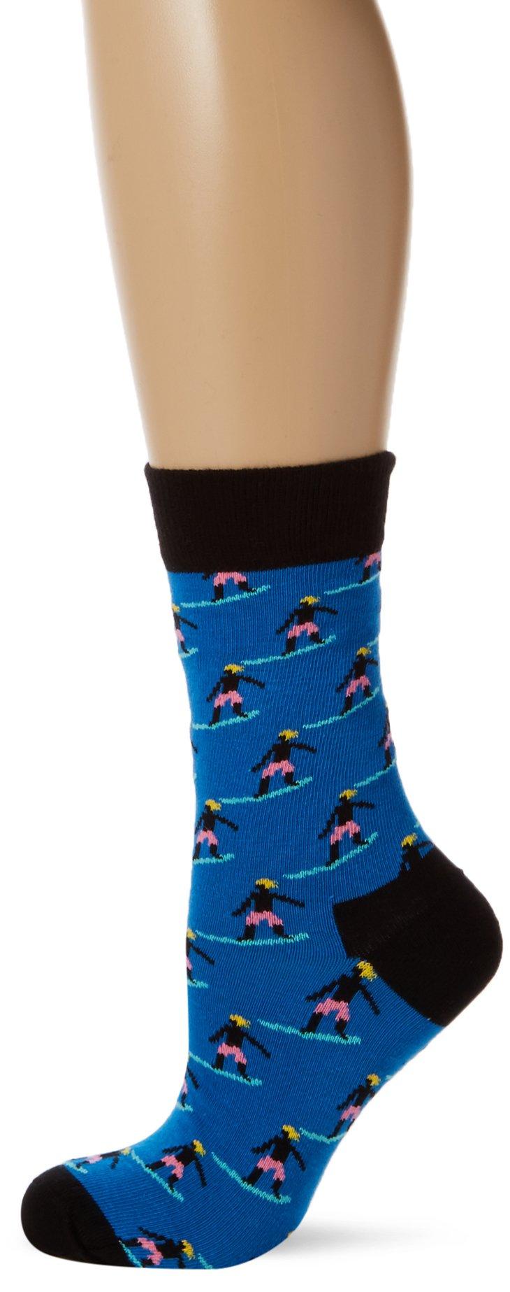 Happy Socks Surfer Sock, Calcetines para Mujer, Multicolor, 37-40