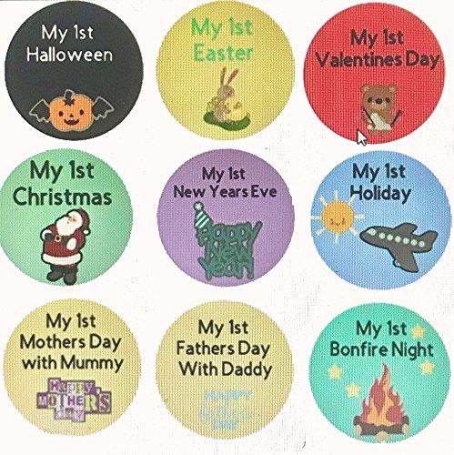 Baby Milestone Karten, Halloween, Weihnachten Muttertag Väter Tag und mehr