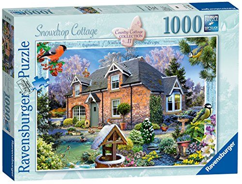 Ravensburger Landhaus-Kollektion Nr. 11-Schneeglöckchen-Landhaus, Puzzle, 1.000 Teile -