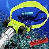 ANGEBOT im Set: CREE XM-L T6 LED Stirnlampe Kopflampe Tauchen Unterwasser Licht Wasserdicht 30m Diving Lamp Light Headlamp Headlight + 4200mAh Akku 18650