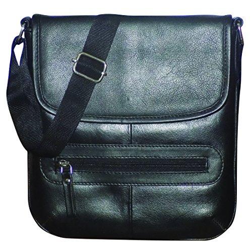 Style98 100% Hunter Leather Handmade Stitched Unisex Messenger Bag||Sling Bag||Shoulder Bag||Hard Disk Bag||Tablet Bag||Handbag for Men,Women,Boys & Girls