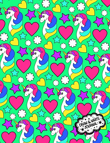 Draw And Write Journal: Unicorn Primary Writing Notebook For Kids / Kindergarten Workbook With Space For Writing And Drawing: Preschool Learn To Write ... Book: Volume 6 (Kindergarten Journals) por Kids Journals