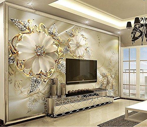 Marmor, Hintergrund Papier (Wapel 3D Wand Papier Marmor Diamant Schmuck Rose Tv Hintergrund Wandbild Tapeten Für Wohnzimmer Contact Paper Home Decor 250Cmx175 Cm)