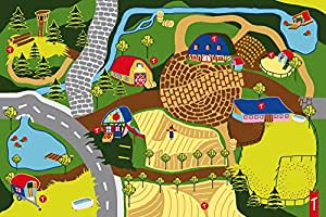 """Spielteppich Kinderteppich """"Mein Bauernhof"""" mit interaktivem Hörspiel von Teppino"""