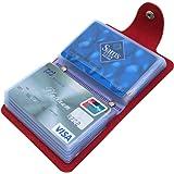 Mocasor Credit Card Holders for Women Men Bank Card Case (Red)