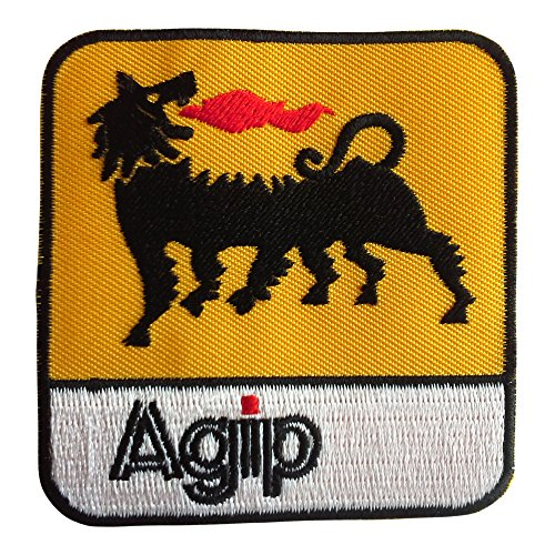 ecusson-agip-logo-racing-sponsor-jaune-75x72cm-patches-brode-appliques-embroidery-thermocollant
