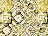 Cuadros Lifestyle Dekorative Stickerfliesen mit Tollen Motiven und Ornamenten für Wände und Fliesen | 12 Teiliges Set | seidenmatt, Größe:20x20cm