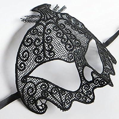 Janecrafts Schwarz Reizvoll Schleier Maske Spitze Cosplay venezianischen Halloween Costume Ball Party Maskerade Maske Augenmaske von Janecrafts bei Outdoor Shop