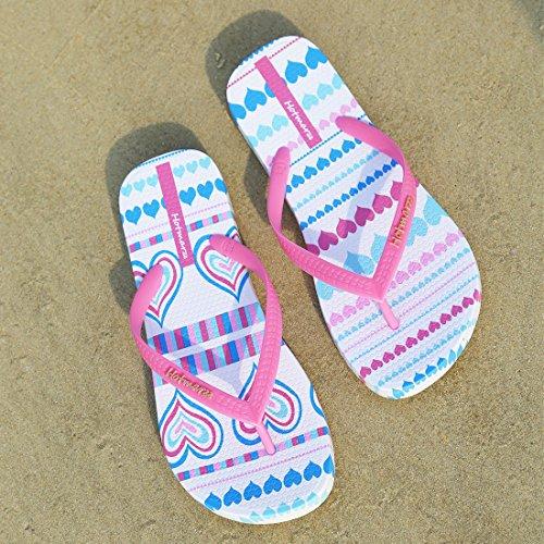 Hotmarzz Infradito Donna Cuore Amore Sandali Estate Spiaggia Ciabatte Piscina Scarpe Rosa