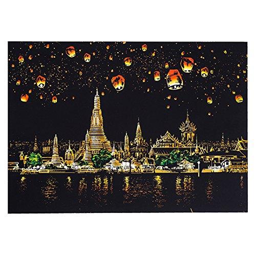 Elegant Stunning Kinder Malwelt Kreativ DIY Scratch Bright City Night View Scraping Sightseeing Bilder als Geschenk Halloween Taschen für Kinder Chiang Mai, Thailand