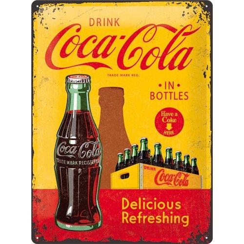 nostalgic-art-coca-cola-in-bottles-yellow-placa-decorativa-metal-30-x-40-cm-color-amarillo-y-rojo