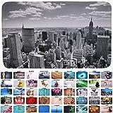 Badteppich, viele schöne Badteppiche zur Auswahl, hochwertige Qualität, sehr weich, schnelltrocknend, waschbar (70 x 120 cm, Skyline New York)