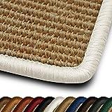 casa pura Sisal Läufer/Teppich myStyle | Kettelung in Wunschfarbe | Naturfaser | Viele Größen zur Auswahl (Kettelung Weiß, 66x100 cm)