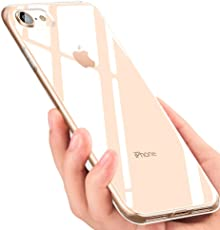 iPhone 8 Handyhülle , iPhone 7 Hülle , Omitium Crystal iPhone 8 Silikon hülle Ultra Dünn Kratzfest Anti-Shock Soft TPU Bumper Schutzhülle für iPhone 7 / iPhone 8 Case - Transparent