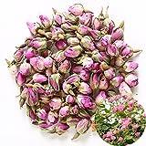 TooGet Rose Naturel Parfumé Rose Bourgeons Pétales de Rose Séchés Damas Séchés en Gros, de Qualité Alimentaire Culinaire - 60g