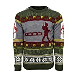 Official Star Wars Boba Fett Nordic Christmas Jumper/Ugly Sweater - UK M/US S