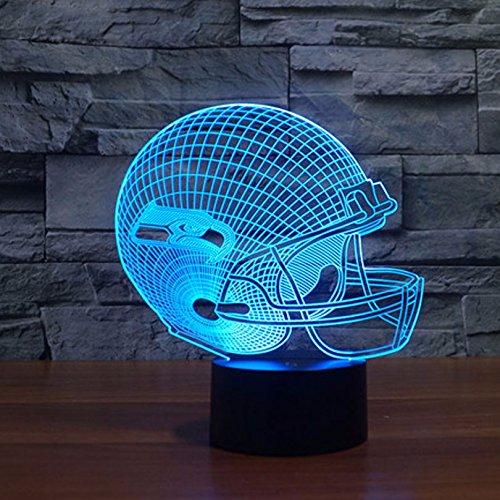 Seattle Seahawks Led Tischlampe Neonschild Neu 3D Neon NFL USA 6 verschieden Farben