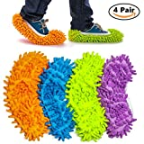 haichen 4par 24cm * 12cm multifunción microfibra polvo Mop Zapatillas Zapatos de limpieza para el hogar, 4colores