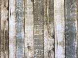 Linen702Nappe vinyle en PVC motif effet planches de bois, 2mètres (200x 137cm) pour table rectangulaire de 6places, facile à nettoyer, envers textile (277)