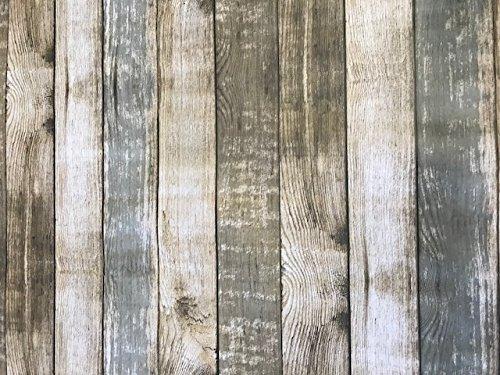 Linen702 - Mantel vinilo efecto madera PVC 2 m, 200