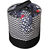 PrettyKrafts Laundry Bag for clothes, Collapsible Laundry storage, Toys Storage, (45 L) (Black Wave)