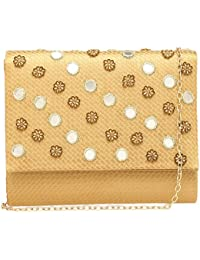 Kashish By Shoppers Stop Womens Party Wear Snap Closure Sling Clutch