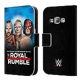 Head Case Designs Offizielle WWE Braun, Brock & Kane 2018 Royal Rumble Brieftasche Handyhülle aus Leder für Samsung Galaxy J1 (2016)