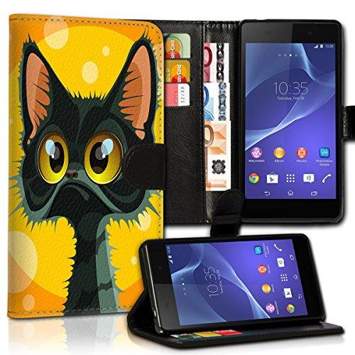 wicostar Wallet Book Style Flip Handy Tasche Case Schutz Hülle Schale Motiv Etui für Huawei Ascend Y330 - Variante UMV21 Design6