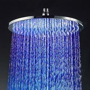 msc2231 - Tête de douche avec led pour chromothérapie rond pour douche moderne - Design unique et incomparable - MAVIXSHOP - Mesure: 30 cm