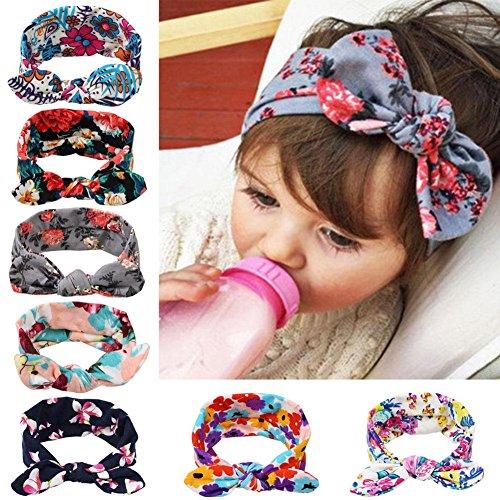 itaar-7-pezzi-di-fascia-capelli-bimba-di-bowknot-elastica-orecchi-di-coniglio-colori-e-fiori-diversi