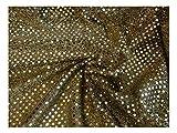 FABRICS-CITY GOLD EXKLUSIVE KLEINE PAILLETTEN STOFF 3MM
