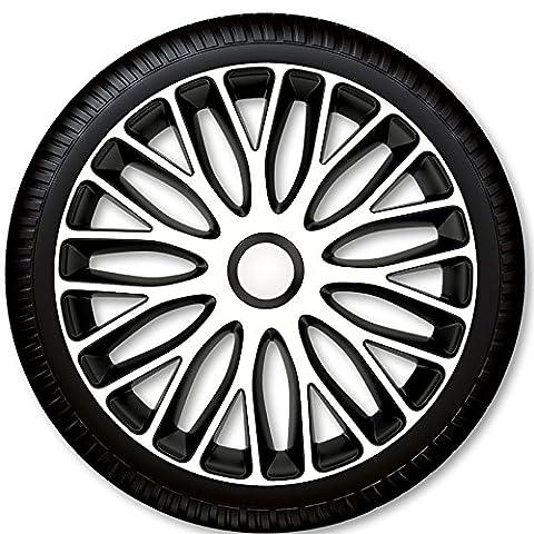 4 Radkappen Radzierblenden Mugello White & Black - 4-er Set (14