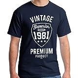 40th Birthday Gifts for Men Vintage Premium 1981 T-Shirt