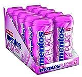 Mentos Pure Fresh Bubble Cool I 10 Pocketdosen Kaugummi-Dragees I Zuckerfrei mit Fruchtgeschmack und Füllung aus Grüntee-Extrakt