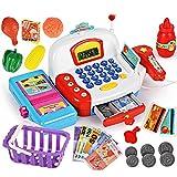 Giocattolo registratore di cassa con scanner di pagamento, multi funzionale, registratore di cassa giocattolo per bambini, macchina per carte di credito