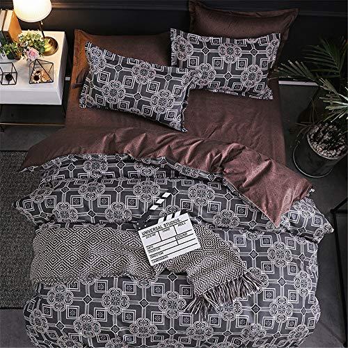 YUNSW Baumwolle Bettbezug Erwachsene Schlafzimmer Twin Voll Königin König Bettwäsche Bettbezug Tröster Abdeckung Bettwäsche A 220x230 cm -