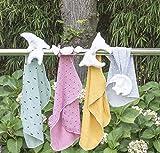 Doudou enfant/bébé attache tétine douce mousseline de coton (COULEUR au choix)