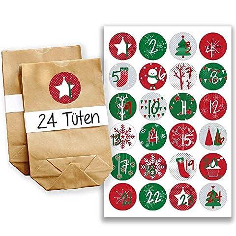 Calendrier Personnalise - Papierdrachen Mini kit de calendrier de l'Avent