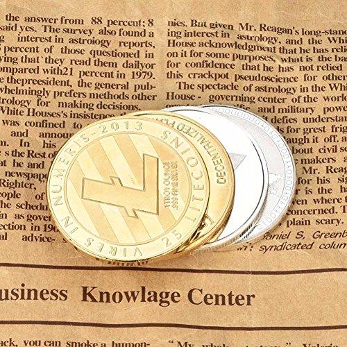 Dekoartikel Münzen,Jaminy 4X Vernickelt Gedenk Litecoin ETH Sammler Gold Eisen Miner MÜNze Geschenk - 2