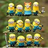 ToyDreamz Random pack of 6 Minion Monsters Mini Generic Toy Figures ( size: 3 cms )