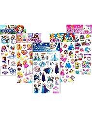 5feuilles Cartoon dessin animé Princesse Tatouages Faux tatouages de cadeau pour les enfants