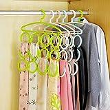 #7: Kuber Industries™ Scarf Holder Tie Hanger Clothes Organizer For accessories like scarfs, dupattas, belts etc - 1 pc (Color Random) - KI3332