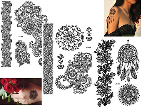 3-fogli-henne-tatuaggi-tatoo-flash-temporanei-nero-adesivi-per-corpo-black-b