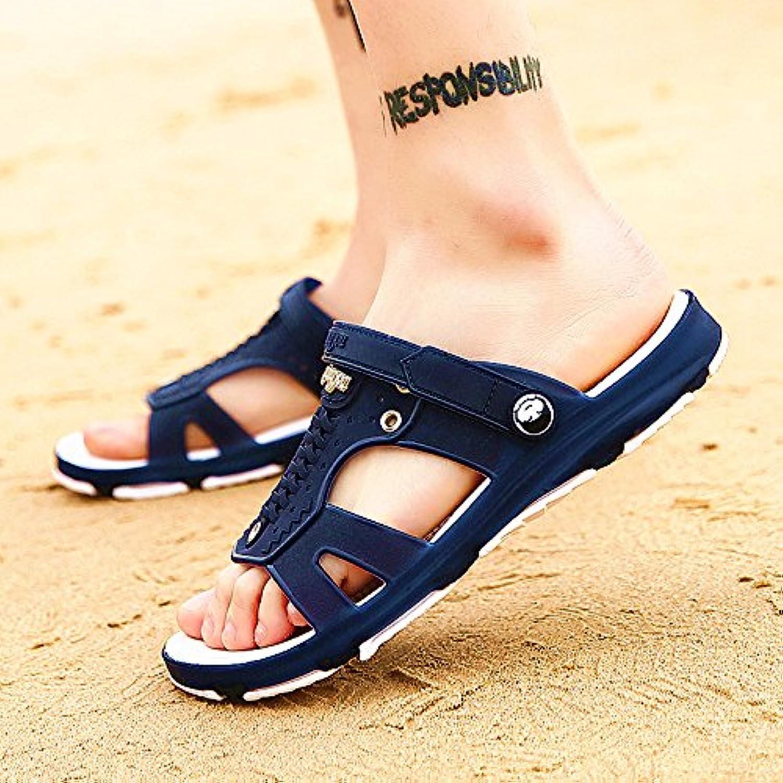 Das Wort Sommer Sandalen nicht Herren  slip Hausschuhe Badeschuhe Sandalen 37 Dunkelblau